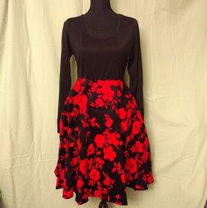 NWT** black and red dress